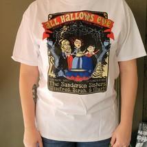 Hocus Pocus Shirt XL White Graphic Tee Sanderson Sisters Amuck Tee - $14.25