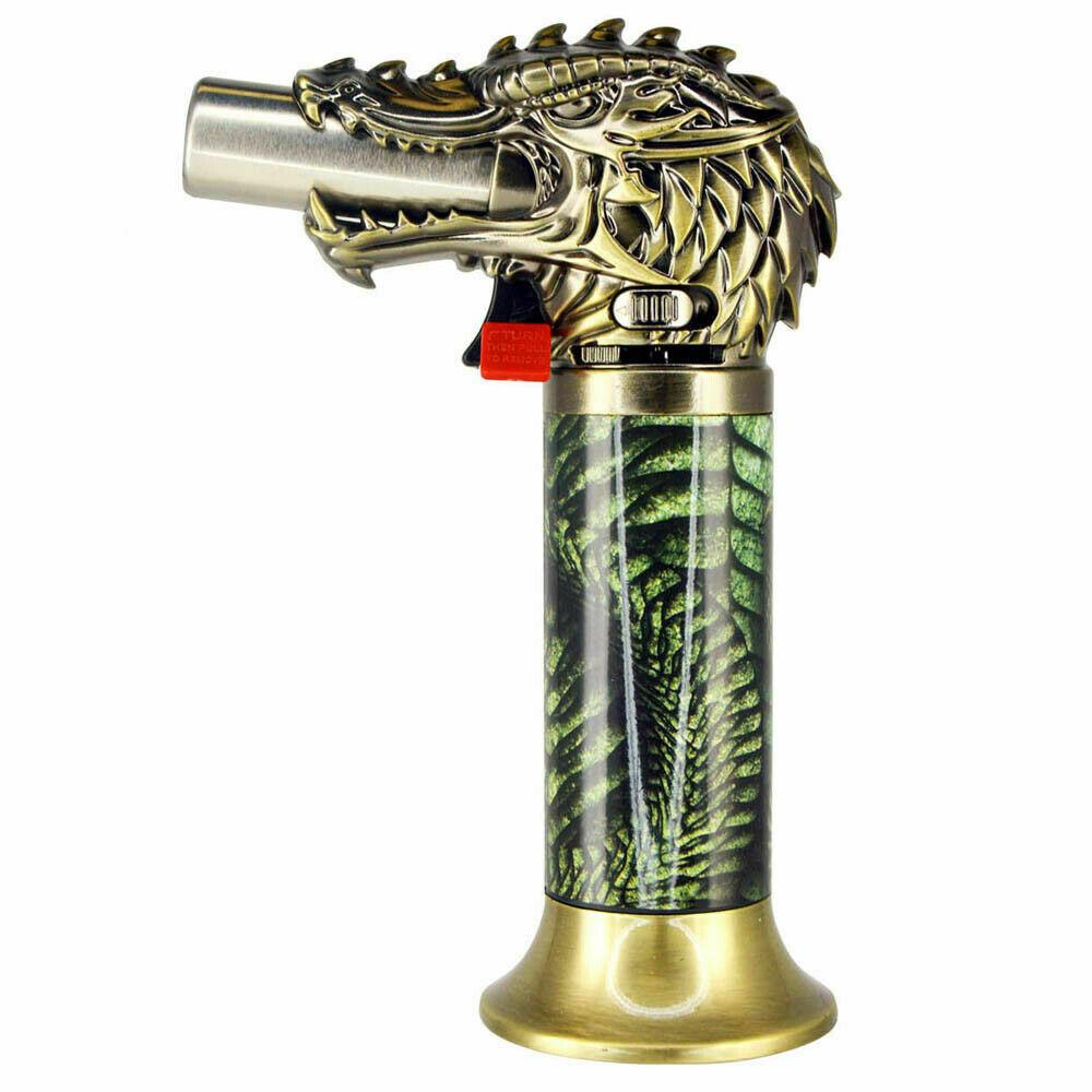 Dragon Head Jumbo Torch REFILLABLE Butane Lighter - One Lighter w/ random color