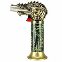 Dragon Head Jumbo Torch REFILLABLE Butane Lighter - One Lighter w/ random color image 1