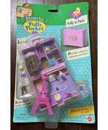 """Vintage 1996 Polly Pocket Bluebird """"Polly In Paris"""" New on Card Pink Sui... - $349.96"""