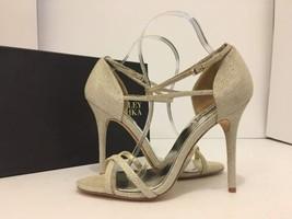 Badgley Mischka Dominique Platino Metallic Women's Evening High Heels Sa... - $67.71