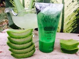 3X I'Aura Aloe vera cleansing gel 50ml. Soft gel Refreshing Control Redu... - $36.47