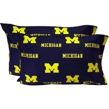 College Covers MICPCSTPR Michigan Printed Pillow Case Set of 2 Solid - £31.24 GBP
