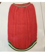 Martha Stewart Pets Dog Sweater size XL Coral Pink Cable Pattern - $7.92