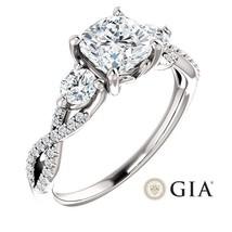 1.55 Carat Cushion Ring in 14K White Gold - GIA CERTIFIED - $2,995.00