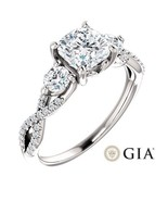 1.55 Carat Cushion Ring in 14K White Gold - GIA CERTIFIED - $2,995.00