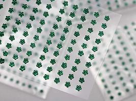KraftGenius Allstarco 3mm Green LQ09 Flower Self Adhesive Acrylic Rhinestones Pl - $9.79