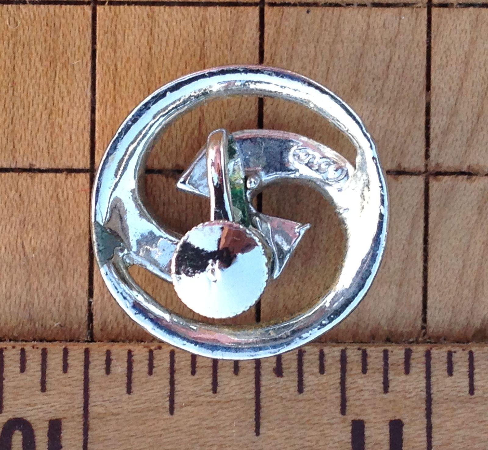 Vintage CORO Mid Century Silver Tone Round Modernist Screw Back Earrings~EVC