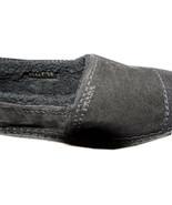 Prada Espadrilles Shearling Fur Lined Shoes Slides 38  Black Suede Loafers - $239.00