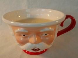 Department 56 Santa Claus Christmas Candle Mug Ceramic  - $12.86