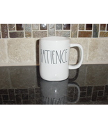 Rae Dunn PATIENCE Mug, Ivory with Black Lettering - $12.00