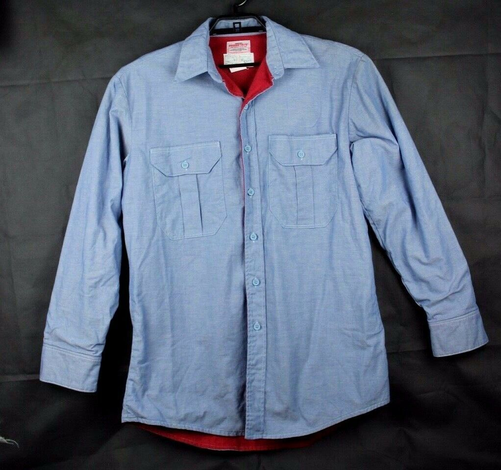 Primary image for Westex Roban FR-7A Flame Resistant Shirt blue long sleeve Made in USA size L