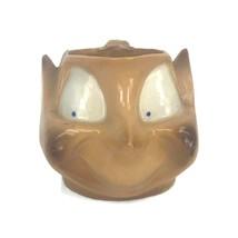 Vintage Elf Pixie Face Handmade Ceramic Coffee Mug Twist Handle Shiny Gl... - $23.27