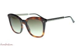 Gucci Women's Sunglasses GG0217S 002 Havana/Brown Gradient Lens Square 52mm - $232.80