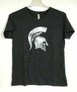 Michigan State Spartans Womens L T-Shirt Crew Neck Gray Short Sleeve NCA... - $22.38
