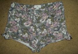"FOREVER XXI Floral Print Denim Short Shorts 28"" waistline - $3.66"