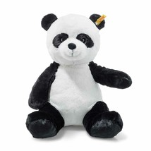 Steiff Soft and Cuddly Ming Plush Stuffed Panda Bear Button in Ear - 12 ... - $27.40