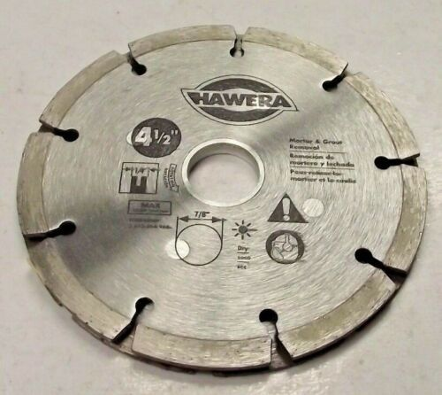 "Primary image for Hawera HWD4510B 4 1/2"" Sand Tip Diamond Saw Blade For Mortar & Grout Removal"