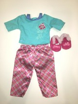 American Girl Doll Petals and Pland PJ's - Pajamas - Shirt Pants Slippers - $14.80
