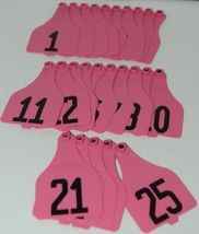 Destron Fearing DuFlex Visual ID Livestock Panel Tags XL Pink 25 Sets 1 to 25 image 4