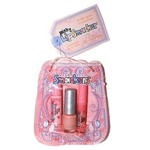 SMACKERS*4p Set IN THE PINK Lip Balm+Gloss+Nail Polish PINKY BAG Raspber... - $24.99