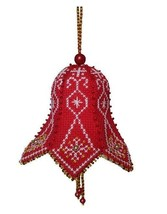 Cross stitch Embroidery Kit Christmas Bell Tree Decoration, Nordic Print - $9.18
