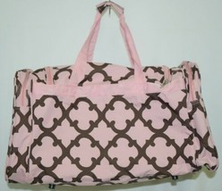 Generic D2211COFFEEP Pink and Coffee Brown Moroccan Duffle Bag image 2