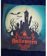 Happy Halloween Pillow Cover 17.5 In x 17.5 In TRICK OR TREAT HAUNTED HO... - $12.87