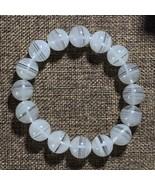 13mm Natural White Phantom Quartz Crystal Round Beads Bracelet Reiki Hea... - $85.09