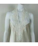Vintage 80s Pauline's Trousseau Night Gown Lace Front Halter Neckline Op... - $89.05