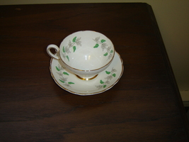 Crown Staffordshire grape vine cup and saucer near mint condition - $13.99
