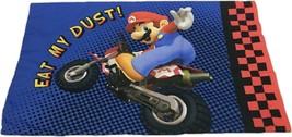 Mario Kart Official Nintendo WII Standard Pillow Case Luigi Eat My Dust - $11.49