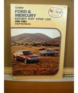 Shop Manual Clymer Ford & Mercury 1981-1982 Escort, Exp, Lynx, LN7 1983, PB - $8.99