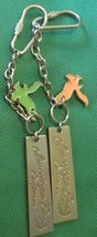 Lot of 2 AMERICAN EAGLE OUTFITTERS metal logo & charm keyring key chain ... - $11.99