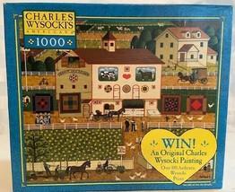 Charles Wysocki 1000 Piece Jigsaw Puzzle Game Amish Neighbors - Rompecab... - $28.22