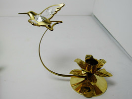 Austrian Crystal Humming  Bird Candle  24 Gold Plated - £7.26 GBP
