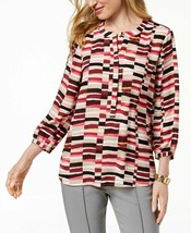 JM Collection  Womens NEW Multi Printed Blouse Top Pleated-Back SIZE XXL... - $11.88