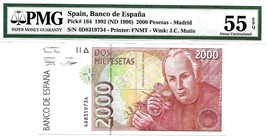 MONEY SPAIN 2000 PESETAS 1992 (1996) BANCO DE ESPANA  PICK # 164 VALUE $70 - $63.00