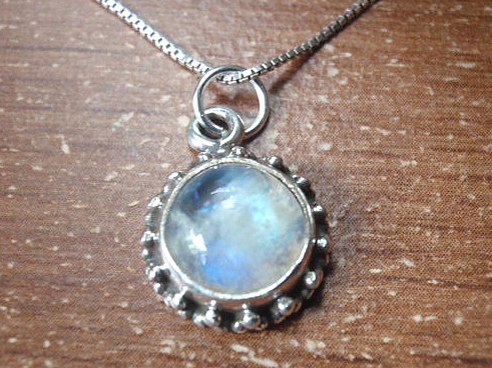 Round Lapis Lazuli 925 Sterling Silver Pendant Corona Sun Jewelry