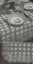 Pineapple Doilies Tablecloth Runner Luncheon Buffet Armchair Crochet Patterns  image 2