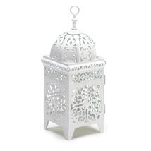 White Scrollwork Candle Lantern 10038332 - $20.50