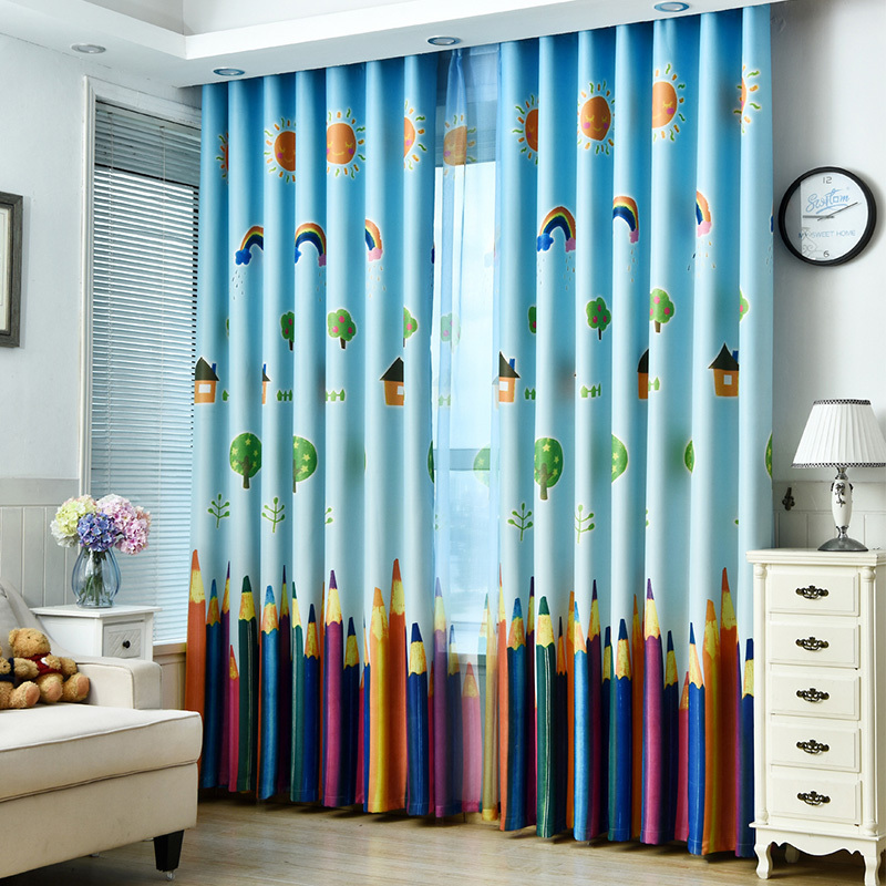 Rainbows-and-Pencils-Children-Curtains-Baby-Room-Curtains-for-Living-Room-The-Be for sale  USA