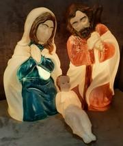 "Vintage General Foam Empire Blow Mold 28"" Nativity Set Mary Joseph Jesus... - $99.99"