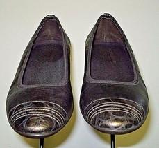 "Donald J Pliner Italy 'HIDEYO"" Gold/Bronze Leather Faux-Croc Flat Sz. 7.... - $35.26"