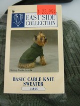 NEW WARM DOG EAST SIDE COLLECTION BASIC CABLE KNIT SWEATER LARGE Color: ... - $10.76