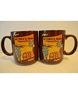 Myers's Rum Set of 2 Coffee Mug Original Dark Brown Ceramic Tropical Rum... - $21.27