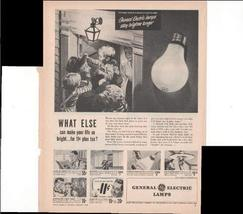 General Electric Lamps What Else Can Make Your Life So Bright For 11c Pl... - $3.25