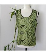 Colombia GRT XL Olive Green Sports Tank Top Sleeveless Shirt Swirl Athle... - $16.83