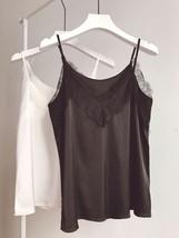 Black Sleeveless Chiffon Lace Top Summer Chiffon Tank Bridesmaid Lace Top Blouse image 1