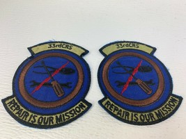 2 USAF Air Force 33rd CRS Component Repair Squadron Patch Repair is our mission - $12.99